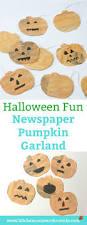 halloween fun newspaper pumpkin garland