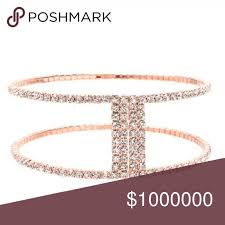 nicole miller crystal ls holiday special rose gold crystal bangle rose gold colour