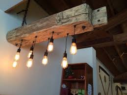 Wood Light Fixture Rustic Wood Light Fixture With Reclaimed Beam Id Lights