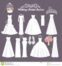 different wedding dress shapes vector wedding dresses in different styles fashion dress