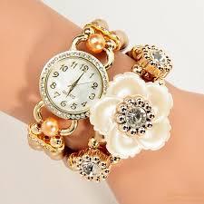 ladies pearl bracelet watches images Creative korean fashion ladies elegant chain wrapped pearl jpg