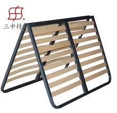 single double queen size latest metal bed designs in wood slat bed