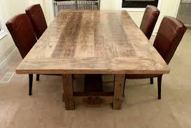 Making Weathered Pine Boards Gray Weathered Barn Board Trestle - Wood dining room table