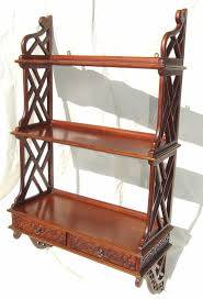 Mahogany Bookcases Uk Antique Chinese Chippendale Style Mahogany Bookcase Hanging Wall