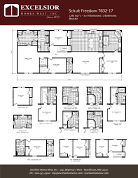 schult modular home floor plans schult freedom 7632 17 excelsior homes west inc