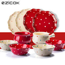thanksgiving dinnerware tableware fresh ezicok polka dot ceramic dinnerware gift set dinnerware set