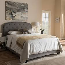 light grey upholstered bed baxton studio lexi modern and contemporary light grey fabric