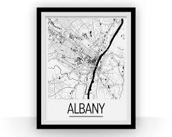 Albany Map Albany Map Poster Usa Map Print Art Deco Series U2013 Ilikemaps
