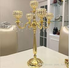 Cheap Candelabra Centerpieces New Product Elegant Tall Metal And Crystal Candelabra Centerpieces