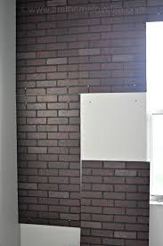 Painting A Wall To Look Like Brick Faux Brick Ifying First Home Love Life