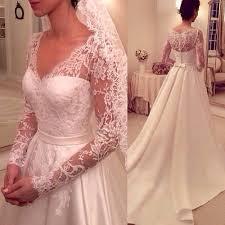 popular simple a line wedding dress sleeves satin buy cheap simple