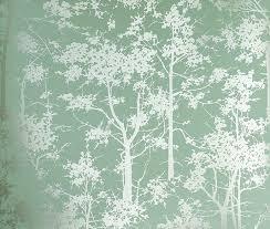 mandara wallpaper aqua wallpaper with a forest of silver trees