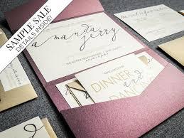 calligraphy wedding invitations modern calligraphy wedding invitations purple wedding