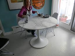 docksta table gorgeous shiny things how to happy hour faux carrara marble