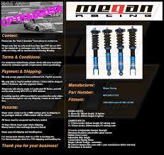 lexus sc300 ebay motors megan racing ez2 street coilovers damper 92 00 lexus sc300 400