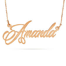 gold script name necklace custom name necklace responsiveprojects
