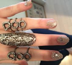 get emmy rossum u0027s lace punk nail art from the met gala stylecaster