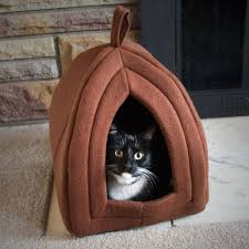 Dog Igloos Amazon Com Petmaker Cozy Kitty Tent Igloo Plush Enclosed Cat Bed