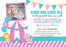 custom circus invitations circus birthday party invitations u2013 gangcraft net