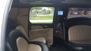 2007 white 165 inch stretch chevrolet suburban suv limousine for