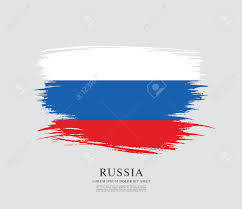 Eussian Flag Flag Of Russia Russian Flag Brush Stroke Background Royalty Free