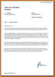 lettre de motivation de cuisine 6 lettre de motivation cuisinier format lettre