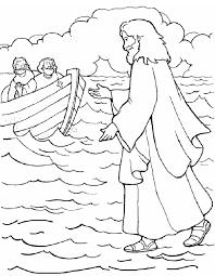 jesus walks water coloring free printable coloring pages