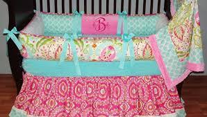 Pink And Aqua Crib Bedding Cribs Beautiful Crib Bedding The Peanut Shell Baby