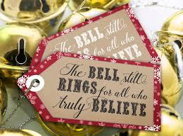 Cowboy Christmas Party Invitations - polar express u0027bell still rings u0027 tags