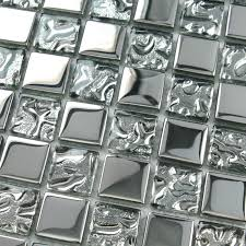 Silver Glass Tile Backsplash Ideas Bathroom Mosaic Tiles Cheap - Cheap mosaic tile backsplash