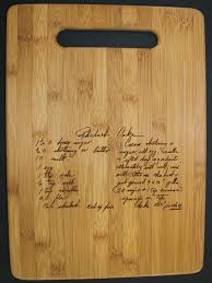 cutting board with recipe engraved vertical recipe scanned from s or s