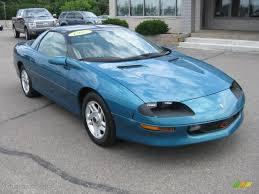 1995 camaro colors 1995 bright teal metallic chevrolet camaro coupe 33439074 photo