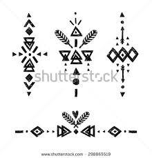 vector tribal elements ethnic stock vector 298865519