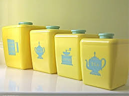 vintage kitchen canister yellow kitchen canisters 129 best images on vintage