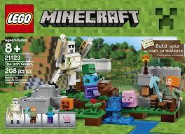 Kitchen Set Toys Box Amazon Com Lego Minecraft The Iron Golem 21123 Toys U0026 Games