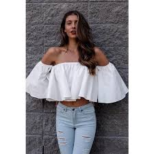 ruffle blouses 2017 trend shoulder white ruffle blouse salvia