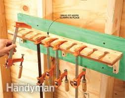 Wood Clamp Storage Rack Plans by Storage How To Store Clamps Family Handyman