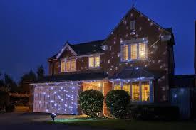 light projector for house auraglow snowfall snow flake christmas outside house projector light