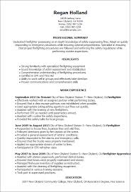 Summary Examples For Resumes by Professional Firefighter Templates To Showcase Your Talent