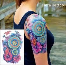 floral mandala tattoo temporary tattoo floral flower tattoo water