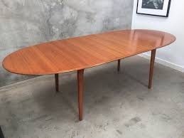 original antique mid century noblett extendable teak dining table
