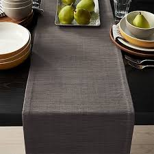 crate and barrel table runner grasscloth 90 graphite grey table runner reviews crate and barrel