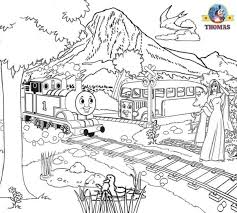 thomas colouring free colouring pages kids train thomas