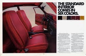 chevy vega interior 1973 chevrolet vega brochure