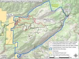 Buffalo Creek Trail Map Closure Area Addresses Illegal Trails On Buffalo Mountain