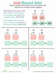 adding and rounding to the nearest 100 worksheet education com
