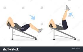 abs exercise men on white background stock vector 546996934