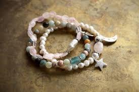 charm bracelet pearl images Shell charm bracelet sea inspired layering bracelet pearl mermaid jpg