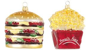 burger and fries ornaments serious eats