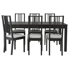 Dining Room Table Extendable by Bjursta Börje Table And 6 Chairs Brown Black Gobo White